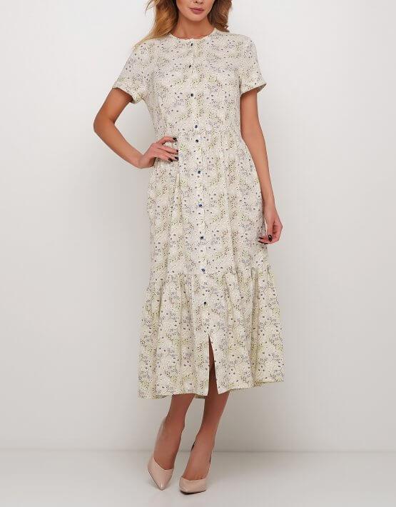 Платье с мелким цветочным принтом AY_2975-1, фото 2 - в интеренет магазине KAPSULA