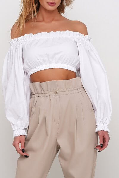 Блуза с длинным рукавом AY_2978, фото 6 - в интеренет магазине KAPSULA