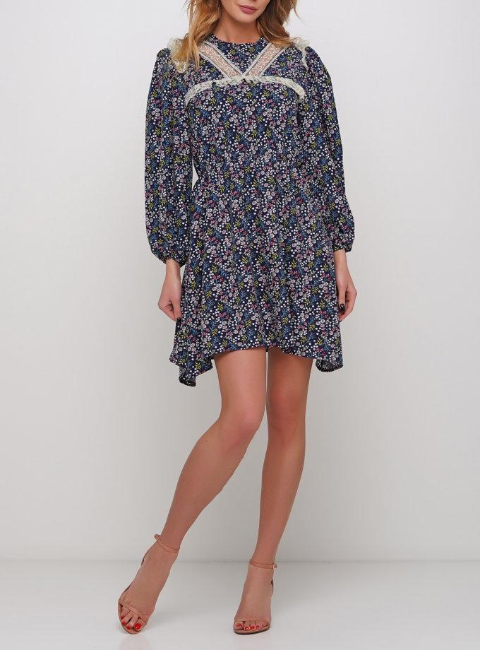 Легкое платье с декором из кружева AY_2983, фото 1 - в интернет магазине KAPSULA