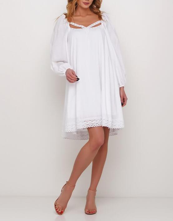 Платье с декором из кружева AY_2985, фото 2 - в интеренет магазине KAPSULA