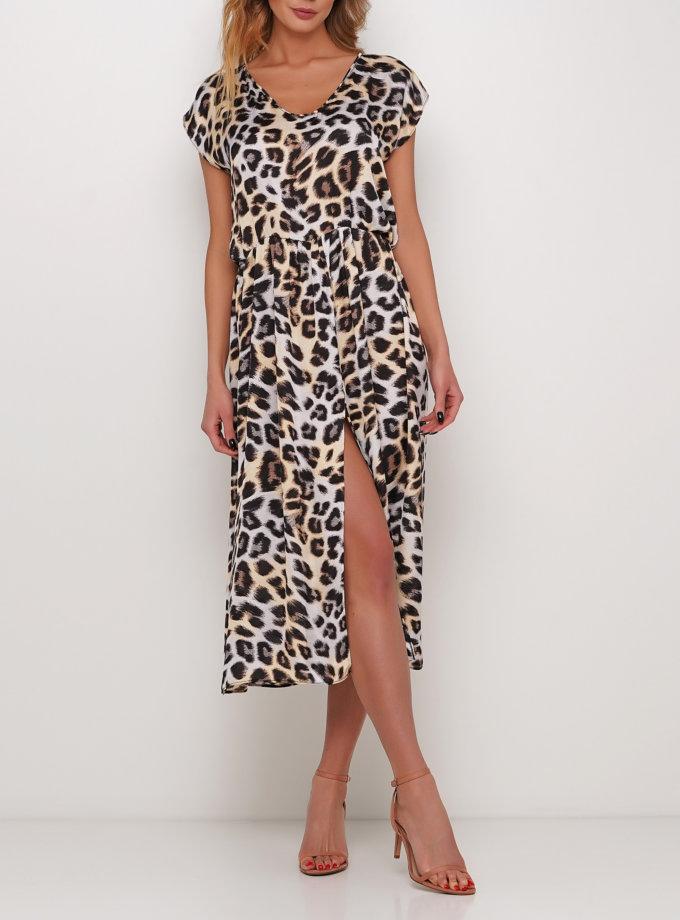 Платье миди в леопардовом принте AY_2988, фото 1 - в интернет магазине KAPSULA