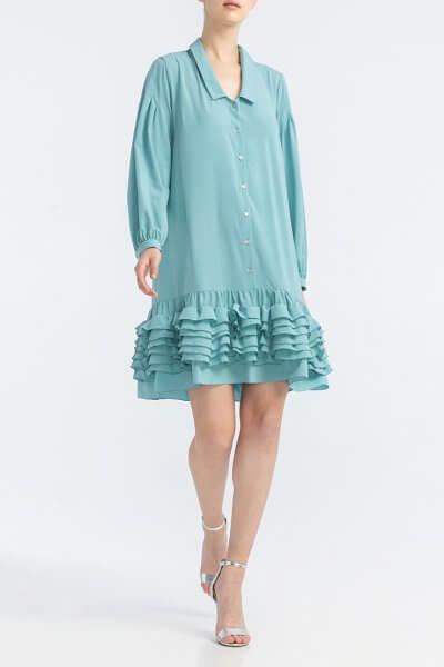 Платье мини с рюшами ALOT_100344, фото 5 - в интеренет магазине KAPSULA