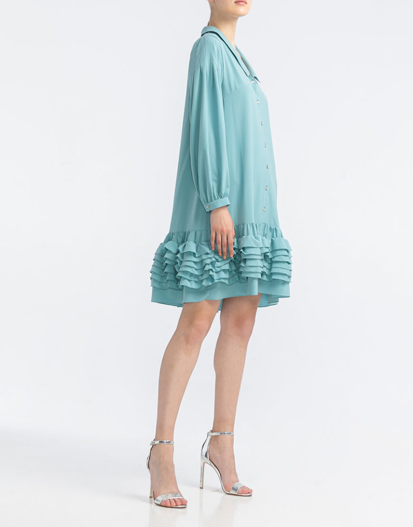 Платье мини с рюшами ALOT_100344, фото 1 - в интернет магазине KAPSULA