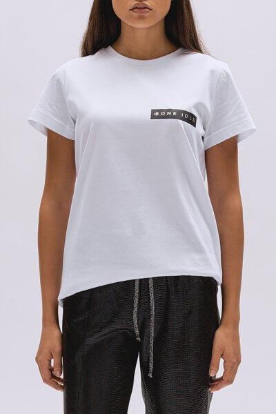 Хлопковая футболка Basic с лого BI_BC001, фото 1 - в интеренет магазине KAPSULA
