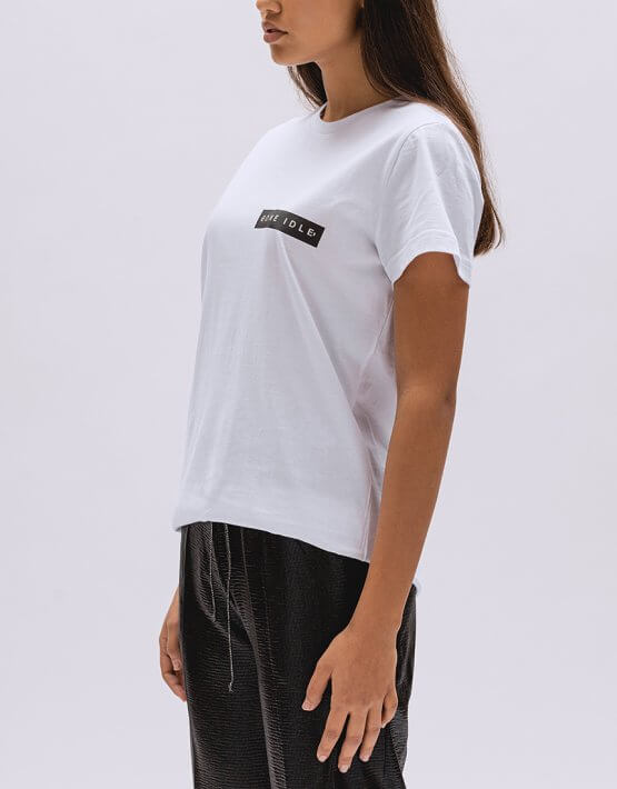 Хлопковая футболка Basic с лого BI_BC001, фото 5 - в интеренет магазине KAPSULA