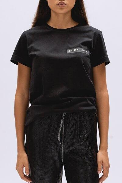 Хлопковая футболка Basic с лого BI_BC002, фото 1 - в интеренет магазине KAPSULA