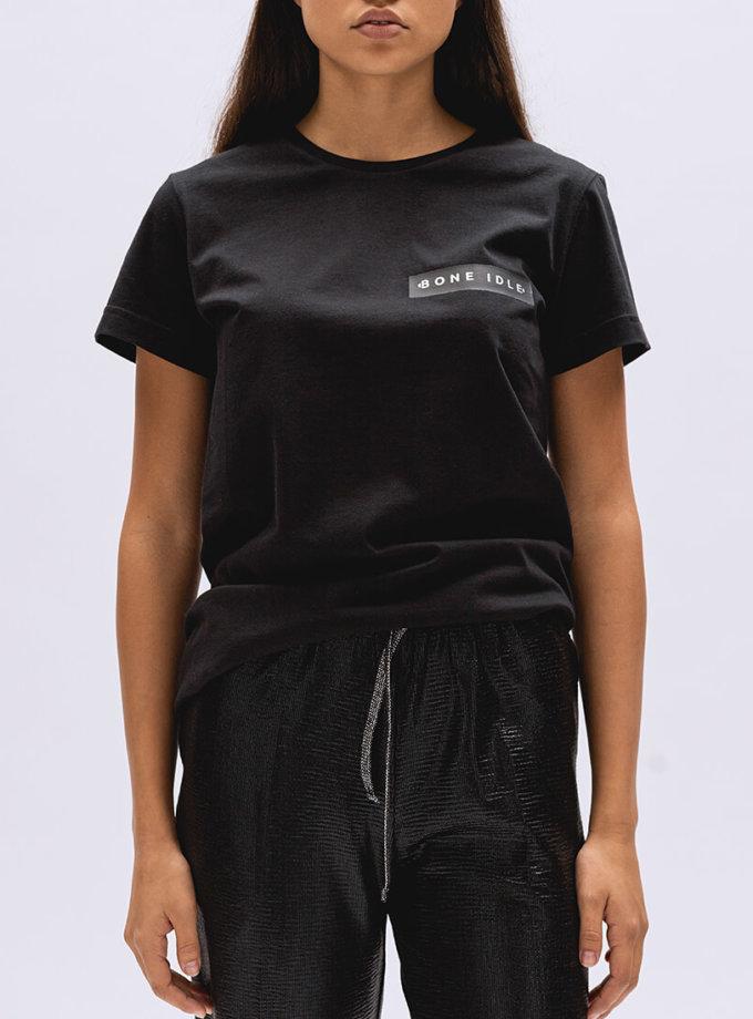 Хлопковая футболка Basic с лого BI_BC002, фото 1 - в интернет магазине KAPSULA