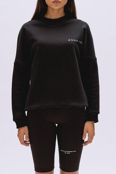 Свитшот Basic из хлопка BI_OS004-black, фото 1 - в интеренет магазине KAPSULA