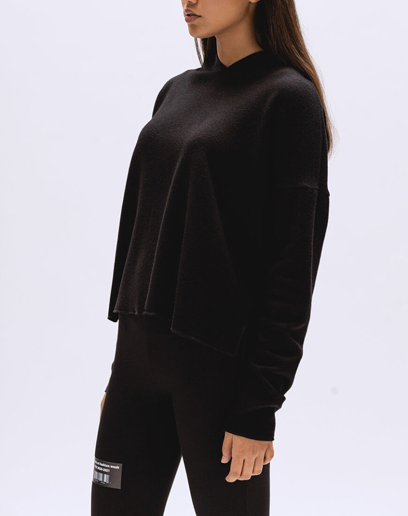 Кроп-худи с капюшоном BI_FW003, фото 1 - в интернет магазине KAPSULA