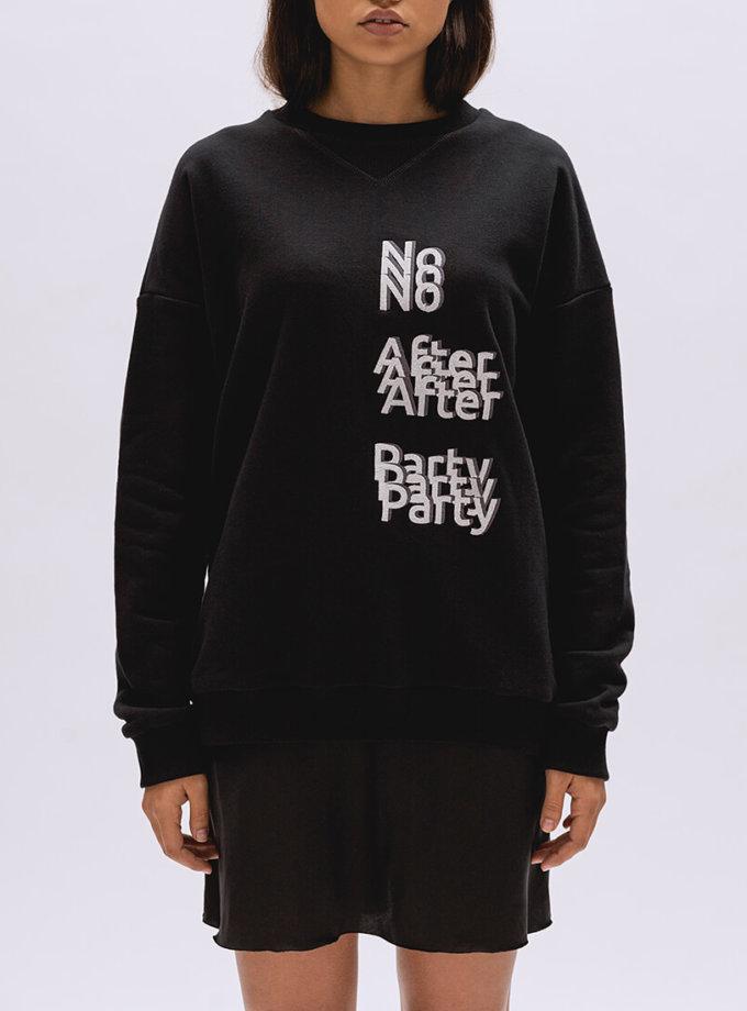 Свитшот No After Party из хлопка BI_LE003, фото 1 - в интеренет магазине KAPSULA