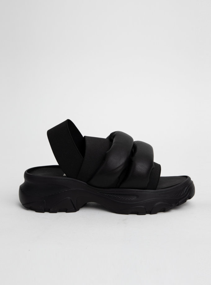 Сандалии на платформе с дутыми ремнями CLS_CSS20PSB, фото 1 - в интеренет магазине KAPSULA