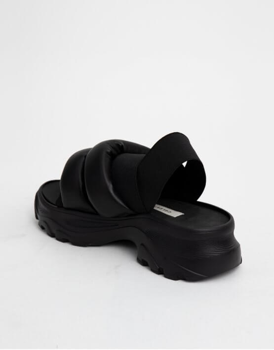 Сандалии на платформе с дутыми ремнями CLS_CSS20PSB, фото 6 - в интеренет магазине KAPSULA