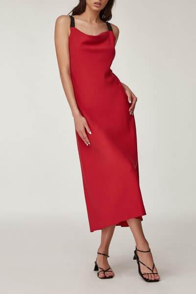 Платье миди с бусинами CVR_BORDO2020, фото 1 - в интеренет магазине KAPSULA