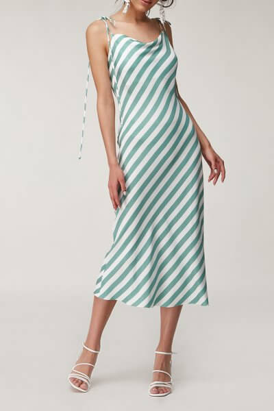Льняное платье в полоску CVR_GRRDR2020, фото 1 - в интеренет магазине KAPSULA