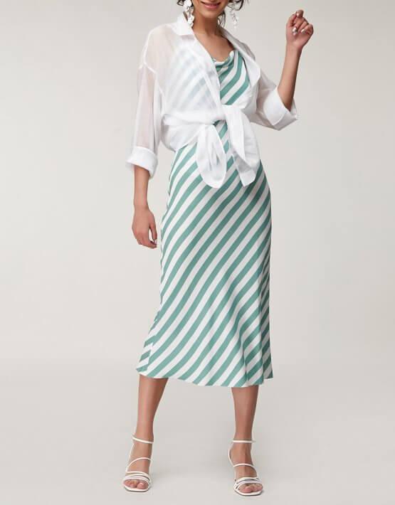 Льняное платье в полоску CVR_GRRDR2020, фото 5 - в интеренет магазине KAPSULA