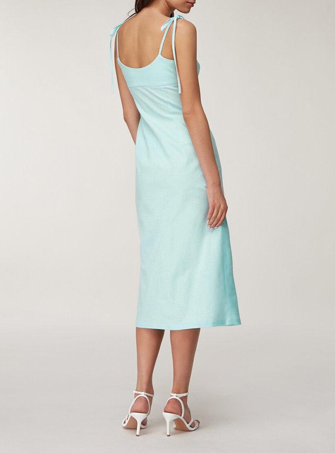 Льняное платье миди CVR_LINBIR2020, фото 1 - в интернет магазине KAPSULA