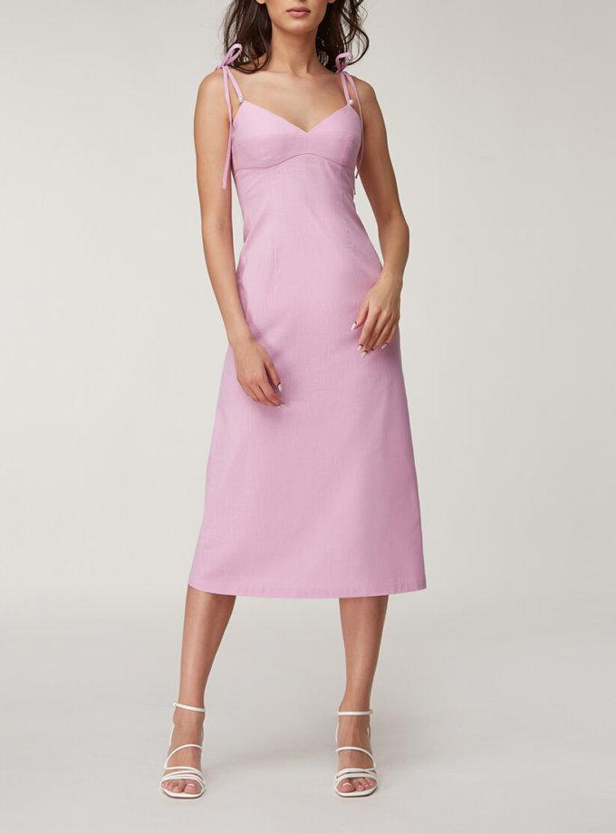 Льняное платье миди CVR_LINFIAL2020, фото 1 - в интернет магазине KAPSULA