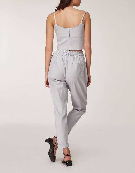 Хлопковые брюки с защипами CVR_PANTSER2020, фото 3 - в интеренет магазине KAPSULA