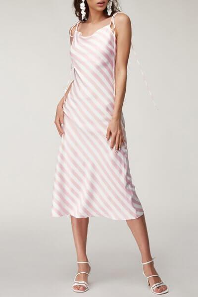 Льняное платье в полоску CVR_PINDR2020, фото 1 - в интеренет магазине KAPSULA