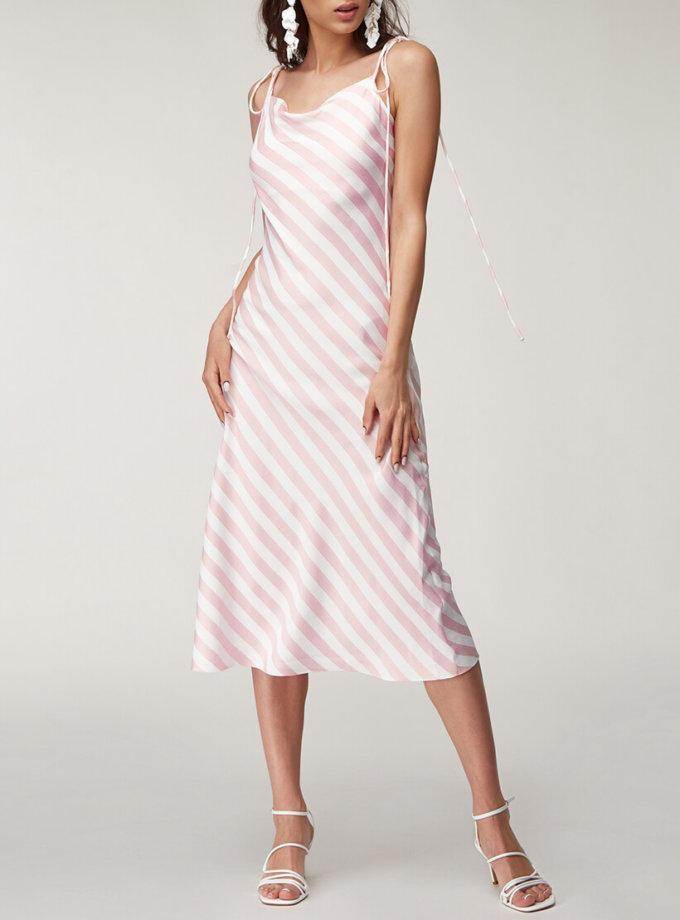 Льняное платье в полоску CVR_PINDR2020, фото 1 - в интернет магазине KAPSULA