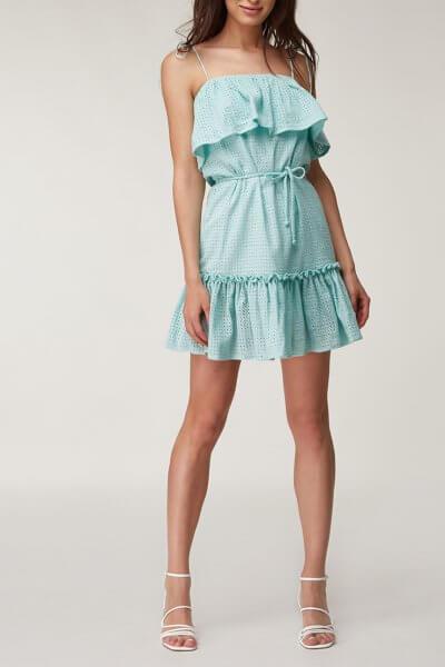 Платье мини с открытыми плечами CVR_PRBIR2020, фото 2 - в интеренет магазине KAPSULA
