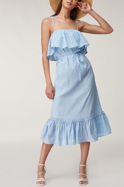 Платье миди с открытыми плечами CVR_PRBLUE2020, фото 1 - в интеренет магазине KAPSULA