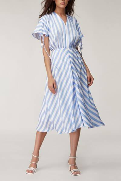 Льняное платье миди CVR_SHORTBL2020, фото 7 - в интеренет магазине KAPSULA