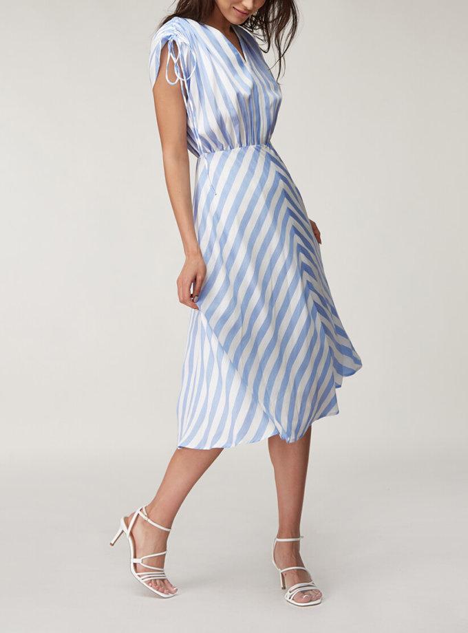 Льняное платье миди CVR_SHORTBL2020, фото 1 - в интернет магазине KAPSULA