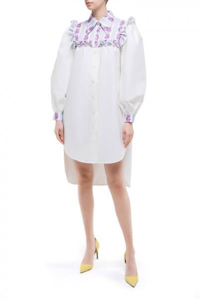 Хлопковое платье с цветочной кокеткой DD_ART_20031, фото 1 - в интеренет магазине KAPSULA