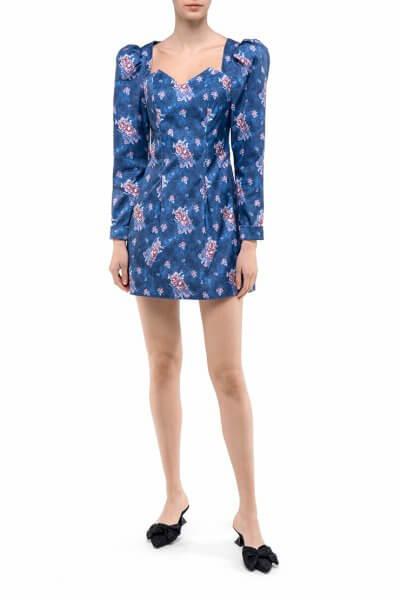 Платье мини в цветочный принт DD_ART_20312, фото 1 - в интеренет магазине KAPSULA