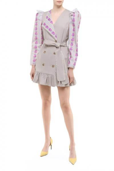 Двубортное платье из хлопка DD_ART_20032, фото 1 - в интеренет магазине KAPSULA