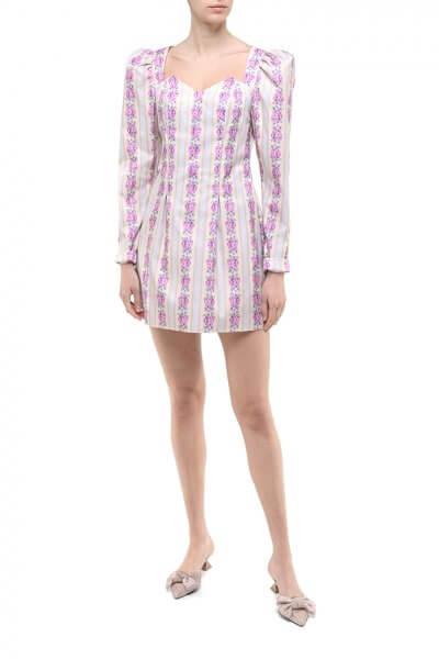 Платье мини в цветочный принт DD_ART_20033, фото 5 - в интеренет магазине KAPSULA