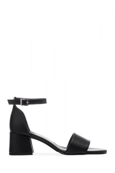 Кожаные босоножки на каблуке ED_BNRN-01, фото 1 - в интеренет магазине KAPSULA