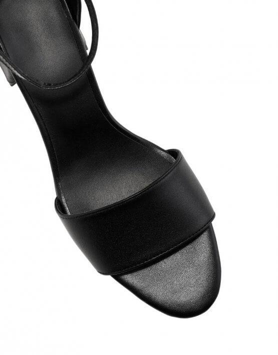Кожаные босоножки на каблуке ED_BNRN-01, фото 5 - в интеренет магазине KAPSULA