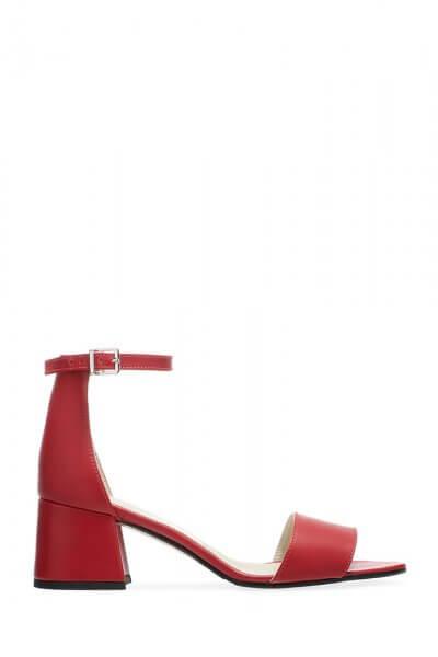 Кожаные босоножки на каблуке ED_BNRN-06, фото 1 - в интеренет магазине KAPSULA
