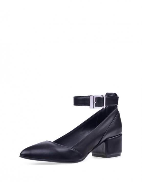 Кожаные туфли со съемным браслетом ED_LBT-01-(K), фото 5 - в интеренет магазине KAPSULA