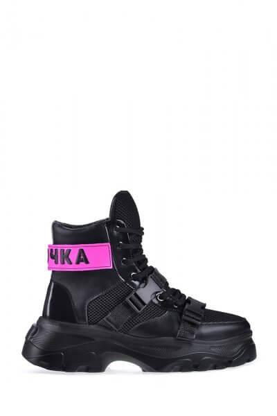 Высокие кроссовки из натуральной кожи ED_MMR-s-01, фото 1 - в интеренет магазине KAPSULA