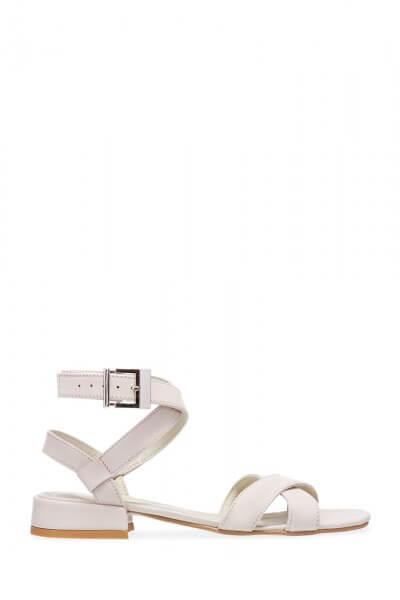 Кожаные босоножки на плоском ходу ED_SK-31, фото 2 - в интеренет магазине KAPSULA