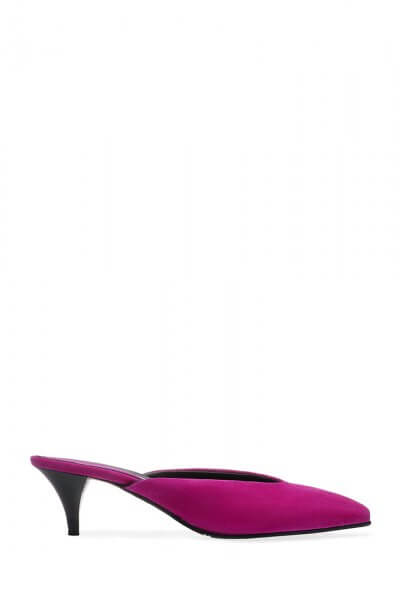 Велюровые мюли с кожаным подкладом ED_SXX-11, фото 1 - в интеренет магазине KAPSULA