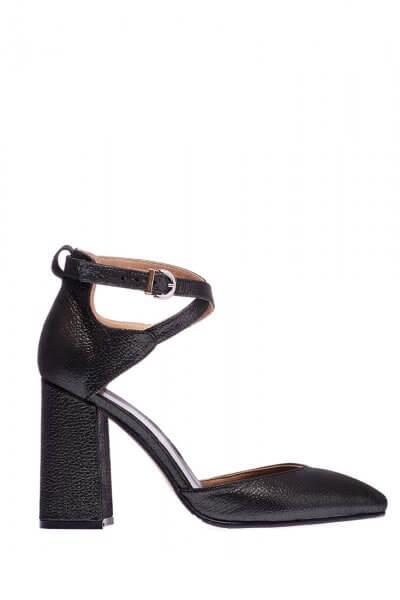 Кожаные туфли на каблуке ED_TFE-01, фото 1 - в интеренет магазине KAPSULA