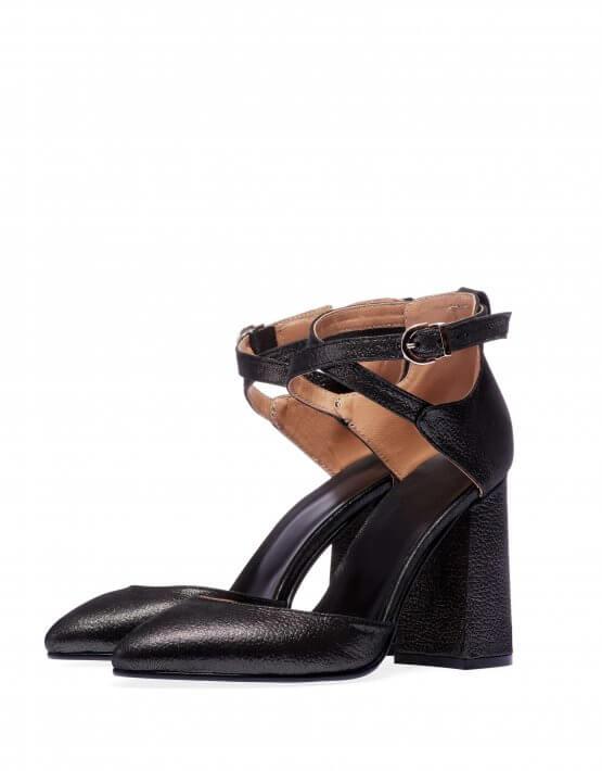 Кожаные туфли на каблуке ED_TFE-01, фото 5 - в интеренет магазине KAPSULA