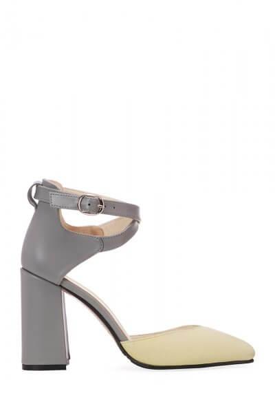 Замшевые туфли на каблуке ED_TFE-03, фото 1 - в интеренет магазине KAPSULA