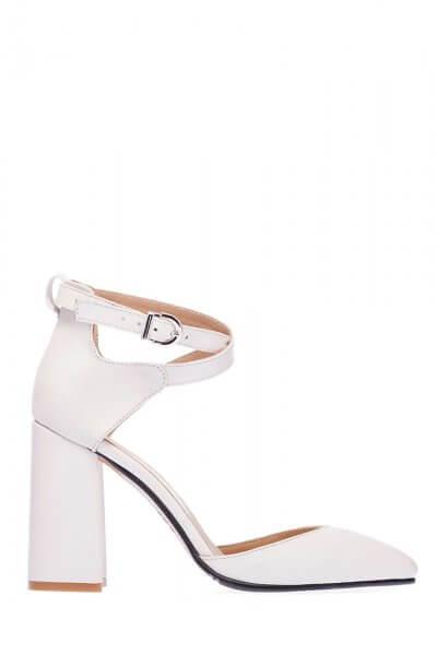 Кожаные туфли на каблуке ED_TFE-16, фото 1 - в интеренет магазине KAPSULA