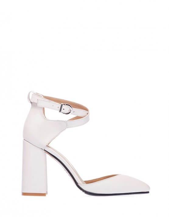 Кожаные туфли на каблуке ED_TFE-16, фото 3 - в интеренет магазине KAPSULA