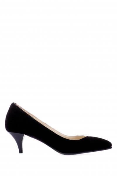 Замшевые туфли на каблуке ED_TFKL-01, фото 1 - в интеренет магазине KAPSULA