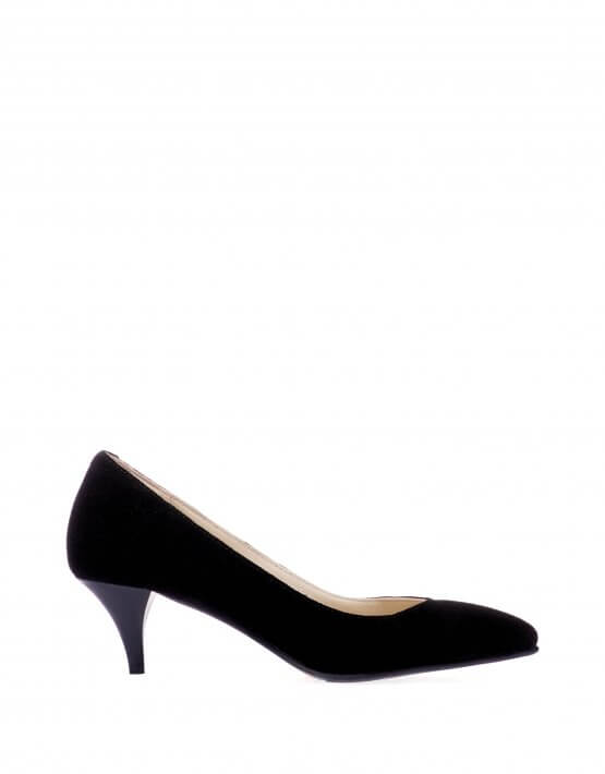 Замшевые туфли на каблуке ED_TFKL-01, фото 4 - в интеренет магазине KAPSULA