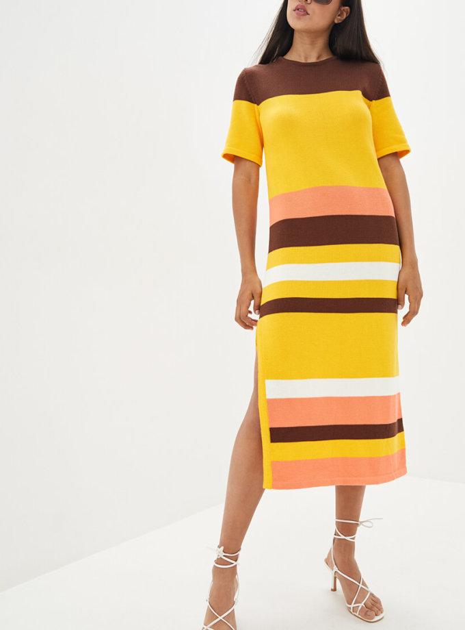 Хлопковое платье с разрезом KNIT_MP002XW10T25, фото 1 - в интеренет магазине KAPSULA