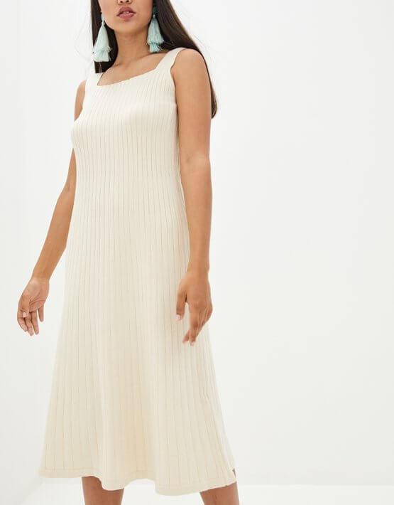 Платье А-силуэта из хлока KNIT_MP002XW10T26, фото 4 - в интеренет магазине KAPSULA