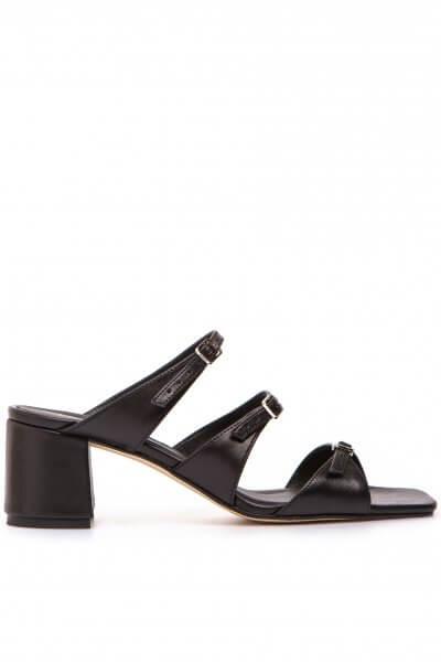 Кожаные мюли Celine Black LA_CB_SS20_4, фото 1 - в интеренет магазине KAPSULA
