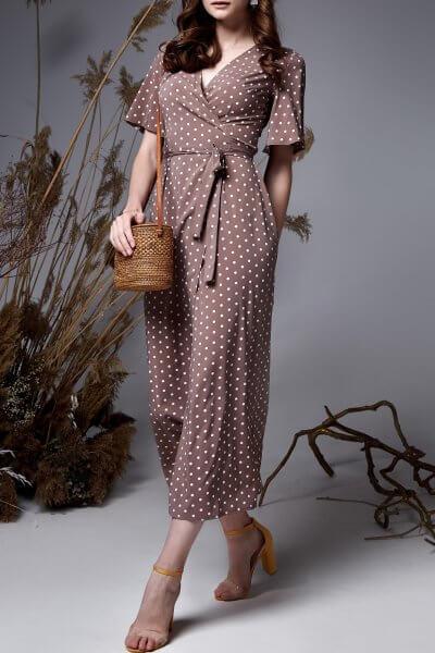 Платье на запах AYLA MC_MY1019, фото 1 - в интеренет магазине KAPSULA